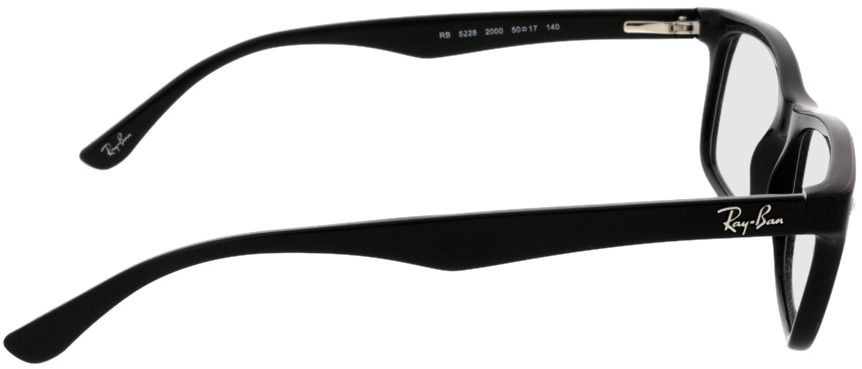 Picture of glasses model Ray-Ban RX5228 2000 50-17 in angle 90