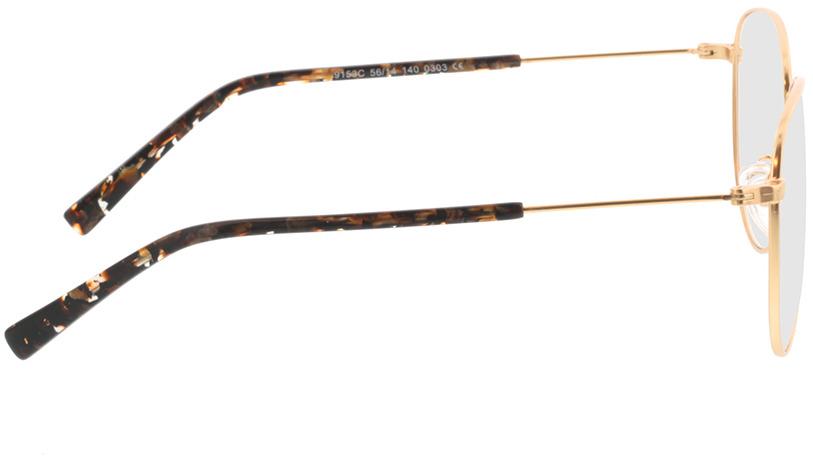 Picture of glasses model Riley-matt gold in angle 90