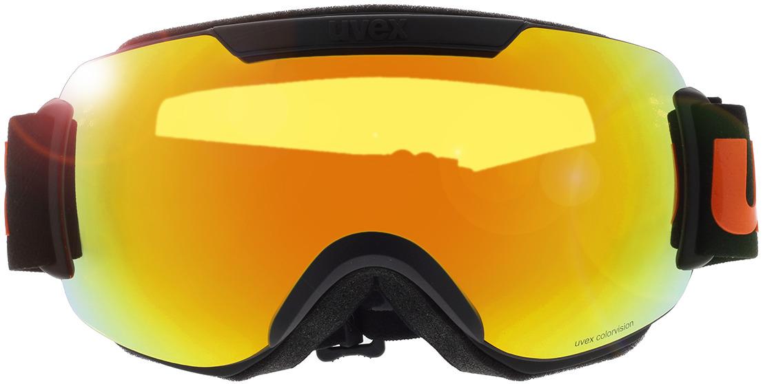 Picture of glasses model Uvex Skibrille Downhill 2000 CV Black Matt/Mirror Orange in angle 0