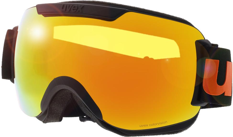 Picture of glasses model Uvex Skibrille Downhill 2000 CV Black Matt/Mirror Orange in angle 330