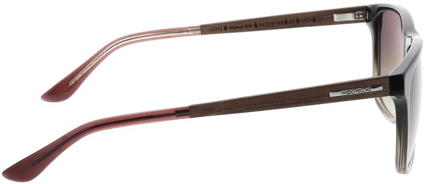 Picture of glasses model Wood Fellas Sunglasses Oberhaus walnut/black fade 56-18 in angle 90