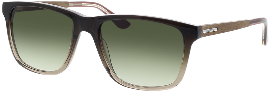 Picture of glasses model Wood Fellas Sunglasses Oberhaus walnut/black fade 56-18 in angle 330