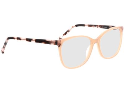 Brille Nowra-apricot/rosa-meliert