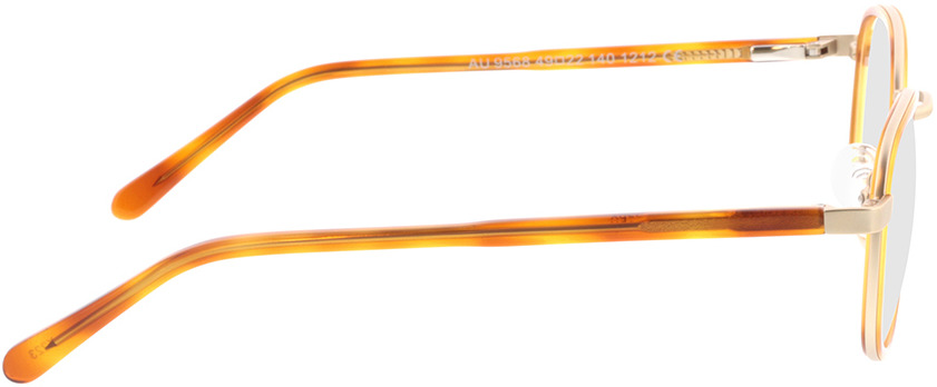 Picture of glasses model Crosby-matt gold/hellbraun-meliert in angle 90
