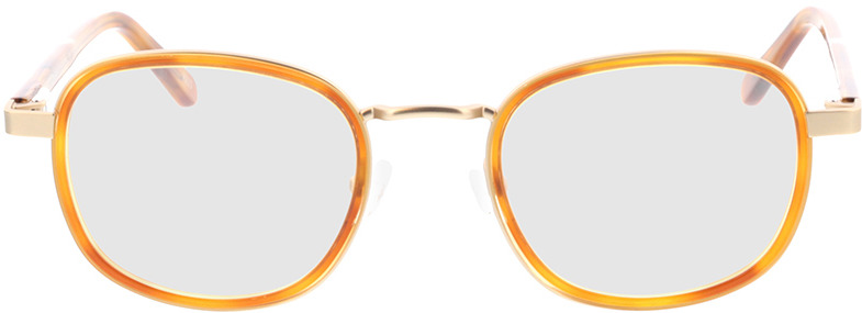 Picture of glasses model Crosby-matt gold/hellbraun-meliert in angle 0