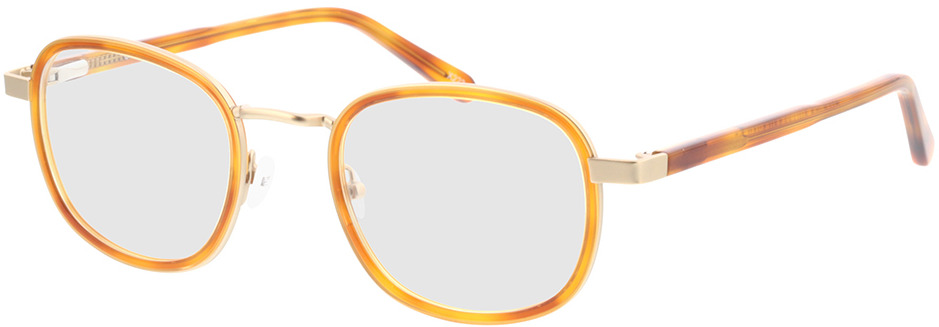 Picture of glasses model Crosby-matt gold/hellbraun-meliert in angle 330
