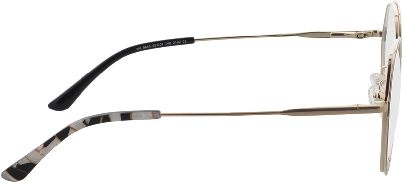 Picture of glasses model Selma-gold/schwarz in angle 90
