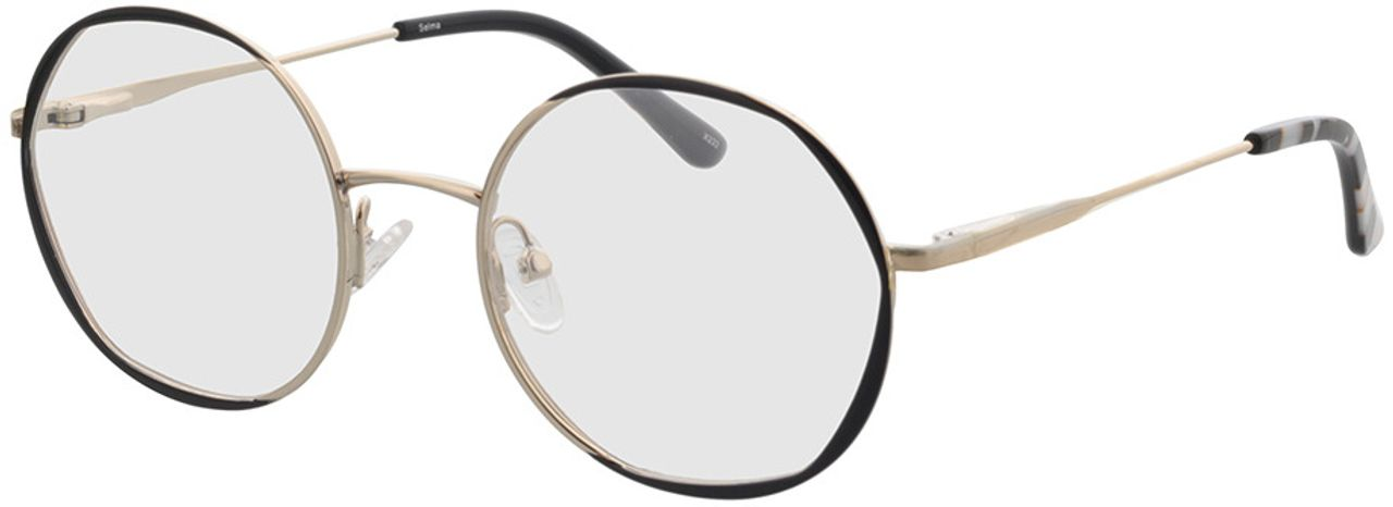 Picture of glasses model Selma-gold/schwarz in angle 330