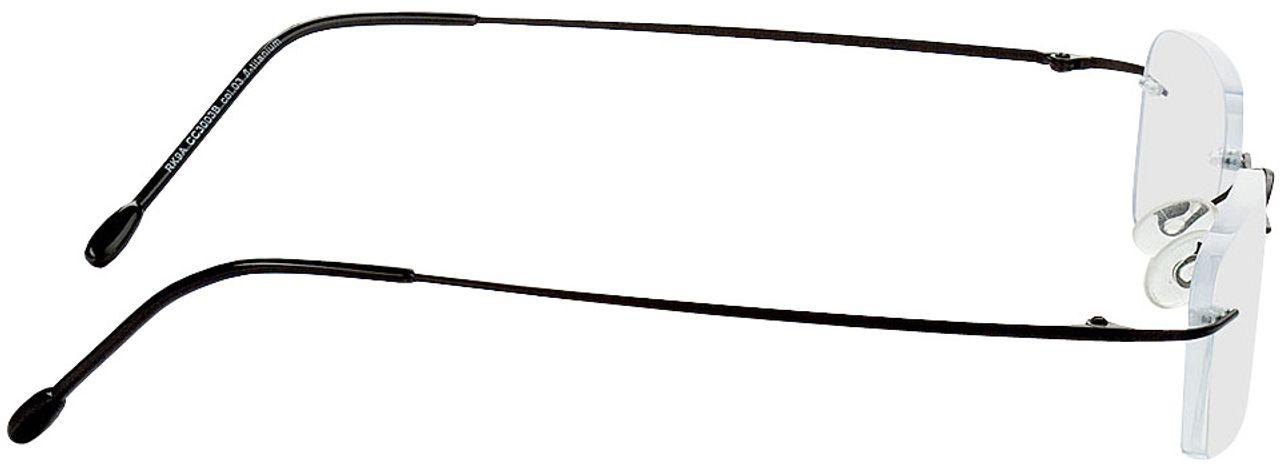 Picture of glasses model Davos-schwarz in angle 90