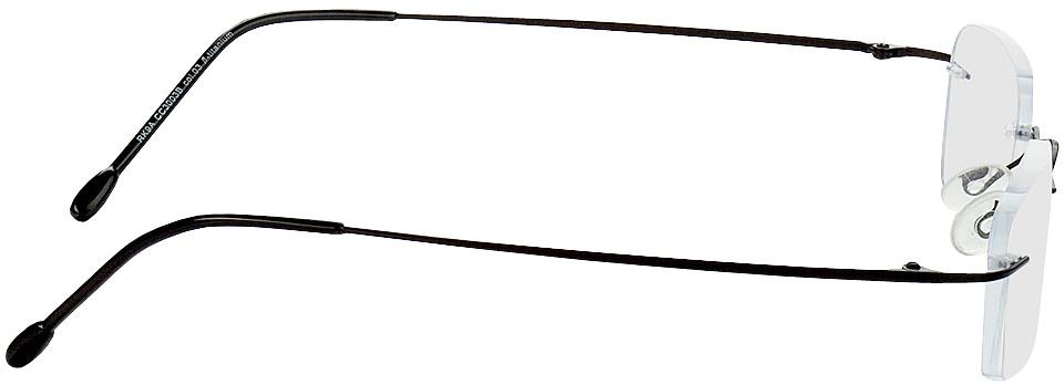 Picture of glasses model Davos black in angle 90