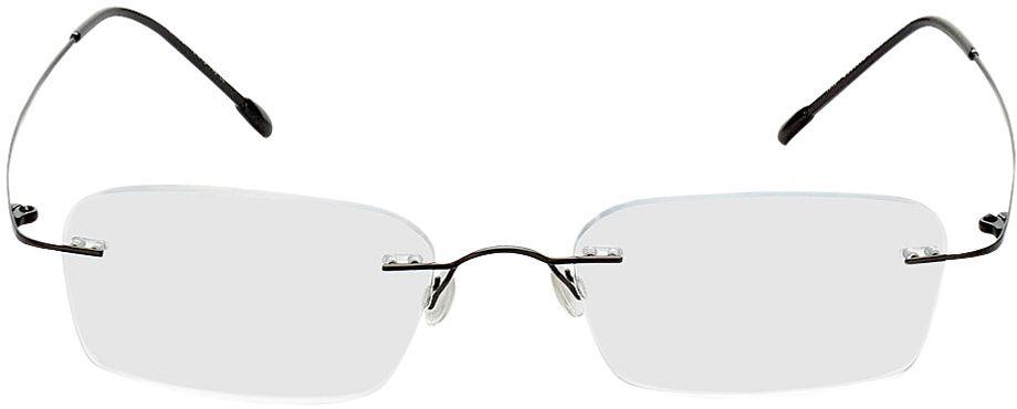 Picture of glasses model Davos-schwarz in angle 0
