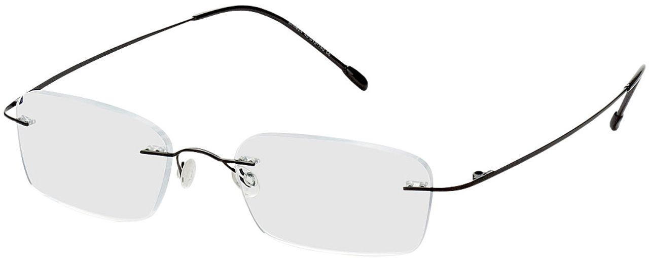 Picture of glasses model Davos-black in angle 330
