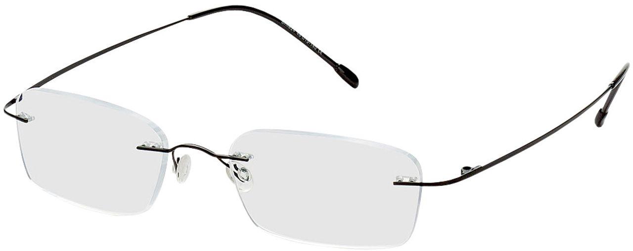 Picture of glasses model Davos-schwarz in angle 330