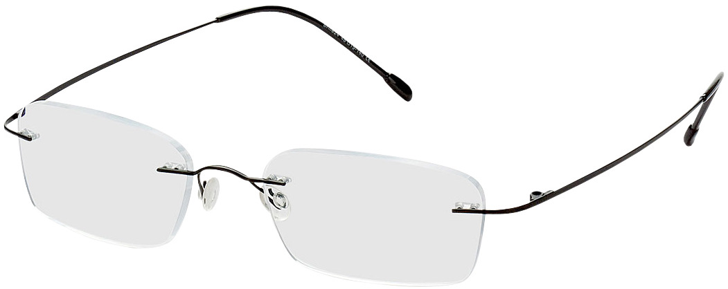 Picture of glasses model Davos black in angle 330