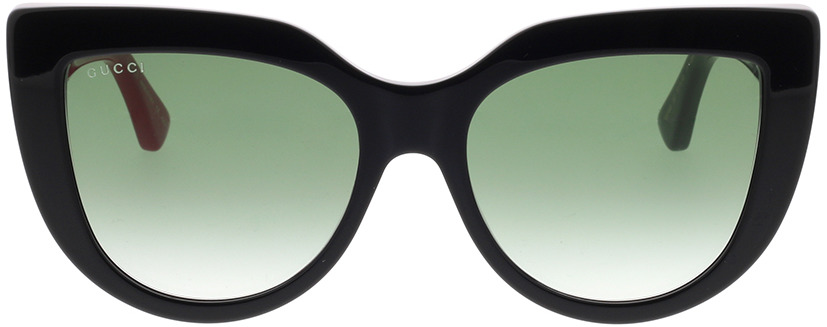 Picture of glasses model Gucci GG0164S-003 53-18 in angle 0