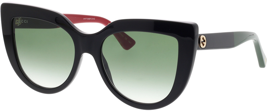 Picture of glasses model Gucci GG0164S-003 53-18 in angle 330