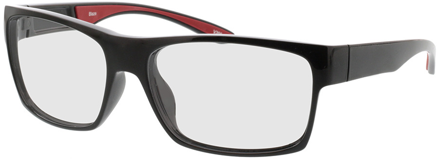 Picture of glasses model Blaze-schwarz/rot in angle 330