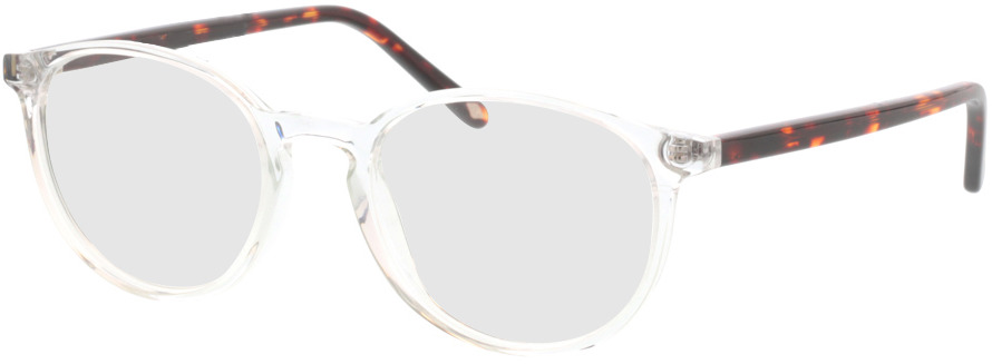 Picture of glasses model Siro-transparent/braun-meliert in angle 330