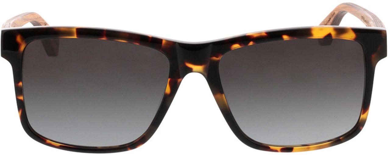 Picture of glasses model Wood Fellas Sunglasses Blumenberg zebrano/havana 56-17 in angle 0