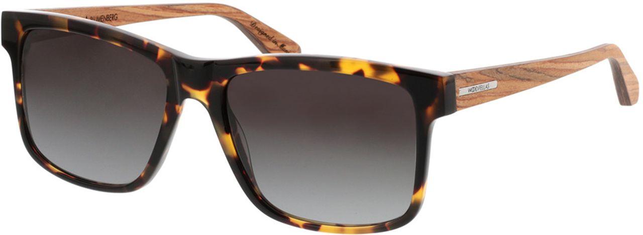 Picture of glasses model Wood Fellas Sunglasses Blumenberg zebrano/havana 56-17 in angle 330