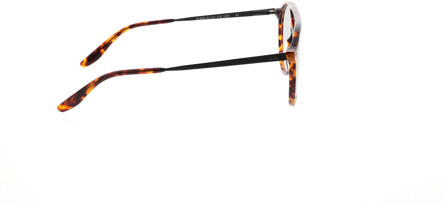 Picture of glasses model Vito-braun-meliert/schwarz in angle 90
