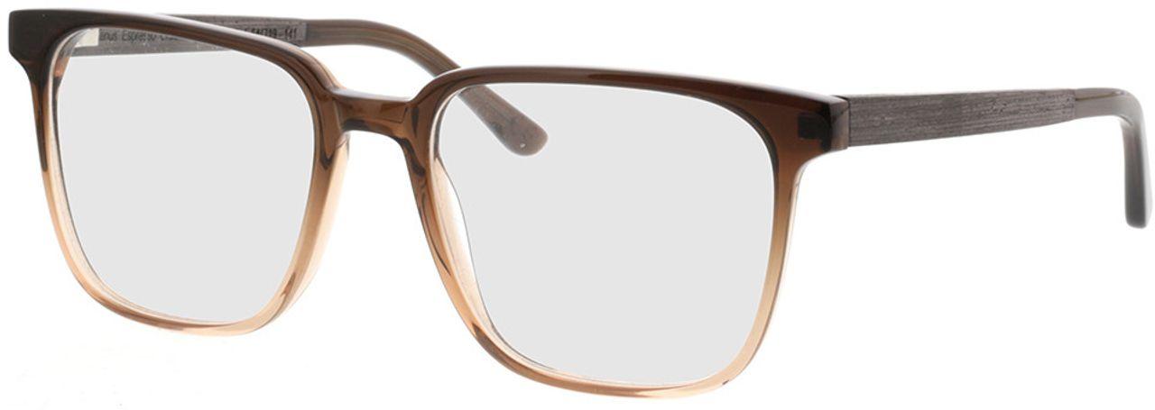 Picture of glasses model TAKE A SHOT Lenus Espresso Gradient RX: Schwarzes Eichenholz 54-19 in angle 330