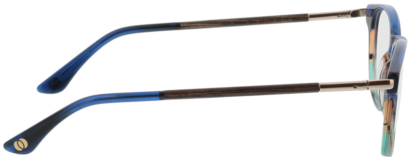 Picture of glasses model Wood Fellas Optical Lucida nogueira/azul 47-19 in angle 90
