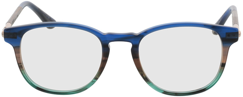 Picture of glasses model Wood Fellas Optical Lucida nogueira/azul 47-19 in angle 0