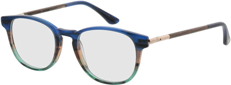 Picture of glasses model Wood Fellas Optical Lucida nogueira/azul 47-19 in angle 330