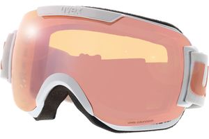 Skibrille Downhill 2000 CV White Shiny/Mirror Rose