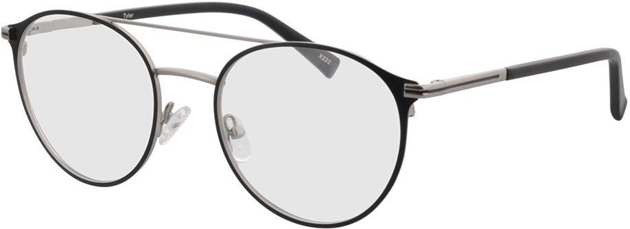 Picture of glasses model Tyler-matt silber/matt schwarz in angle 330