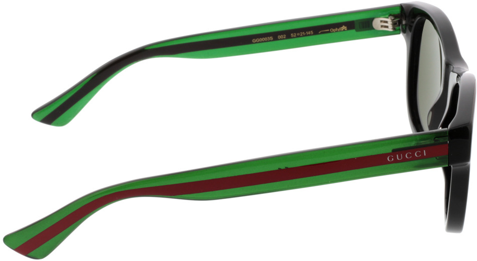 Picture of glasses model Gucci GG0003S-002 52-21 in angle 90