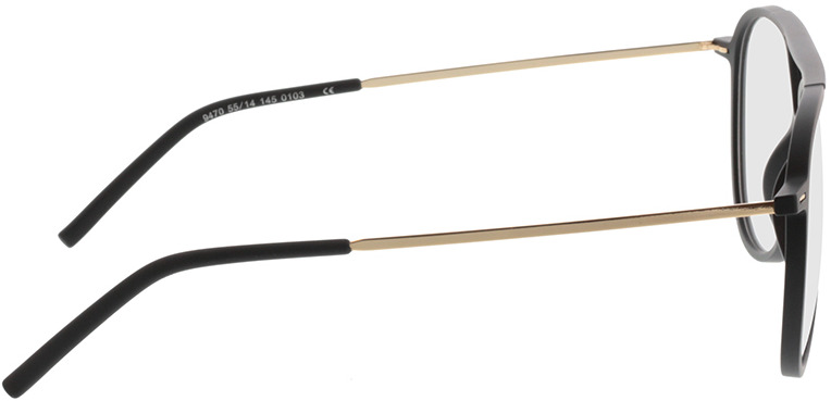 Picture of glasses model Salo-matt schwarz/gold in angle 90