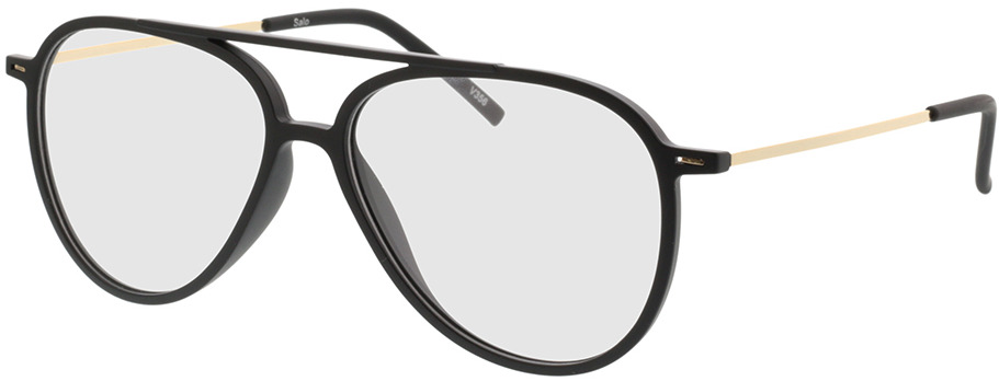 Picture of glasses model Salo-matt schwarz/gold in angle 330