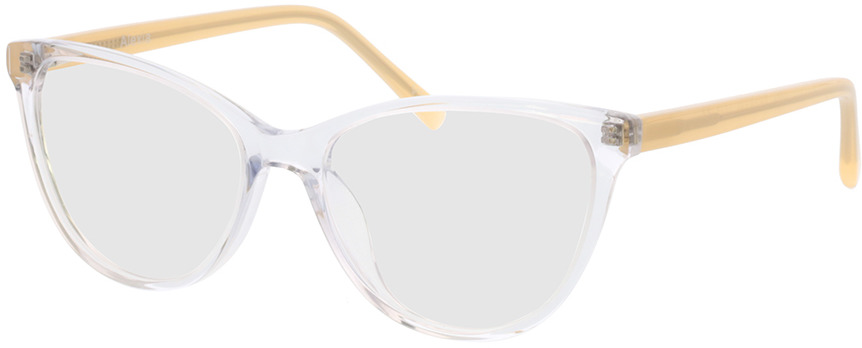 Picture of glasses model Alexia-transparent/gelb in angle 330