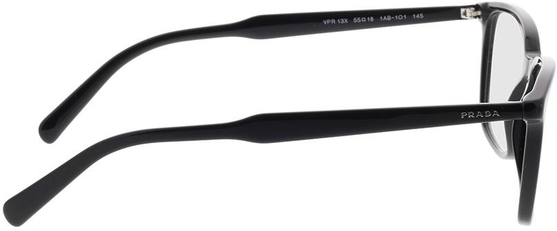 Picture of glasses model Prada PR 13XV 1AB1O1 55-18 in angle 90