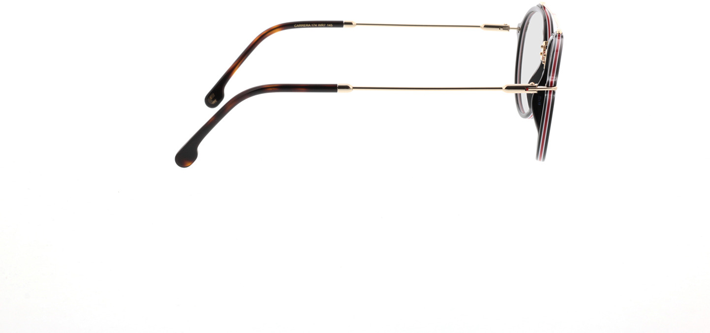 Picture of glasses model Carrera 174 WR7 52-19 in angle 90