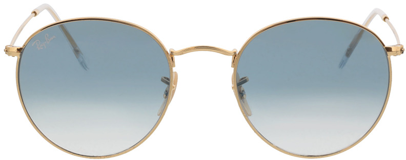 Picture of glasses model Ray-Ban Round Metal RB3447N 001/3F 53-21 in angle 0