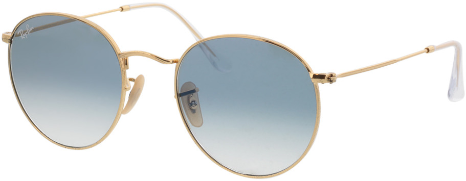 Picture of glasses model Ray-Ban Round Metal RB3447N 001/3F 53-21