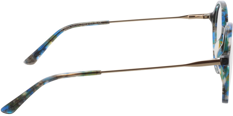 Picture of glasses model Spring-blau-meliert/gold in angle 90