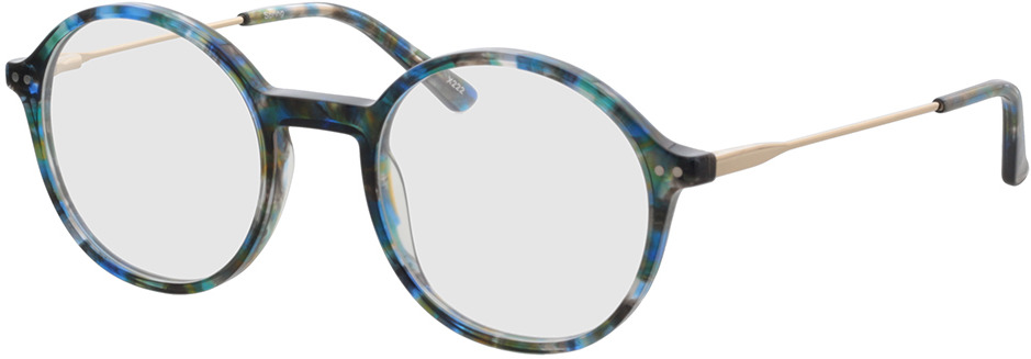 Picture of glasses model Spring-blau-meliert/gold in angle 330