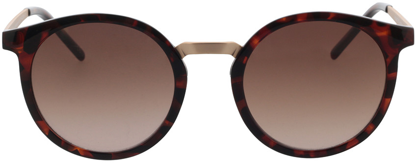Picture of glasses model TAKE A SHOT Leonie: Havana - Braun Gradient Bio TR-90 + Metal in angle 0