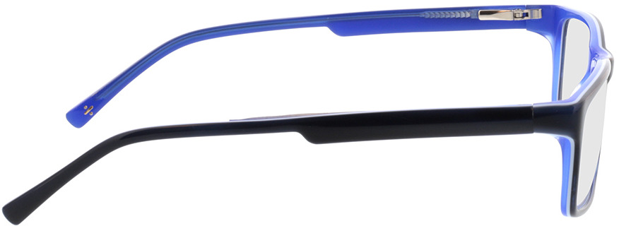Picture of glasses model Lamark-schwarz blau in angle 90