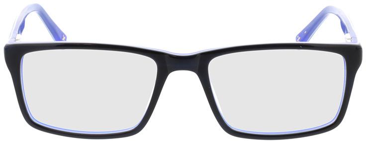Picture of glasses model Lamark-schwarz blau in angle 0