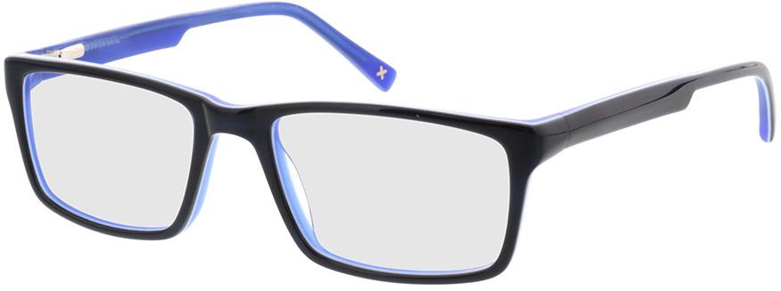 Picture of glasses model Lamark-schwarz blau in angle 330