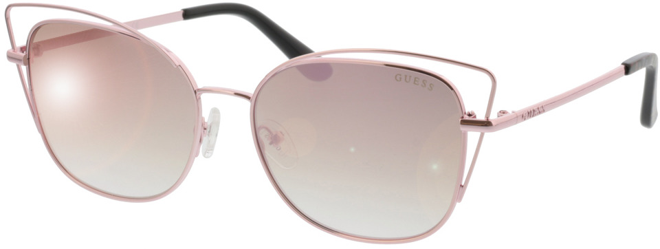 Picture of glasses model Guess GU7528 28Z 56-16 in angle 330