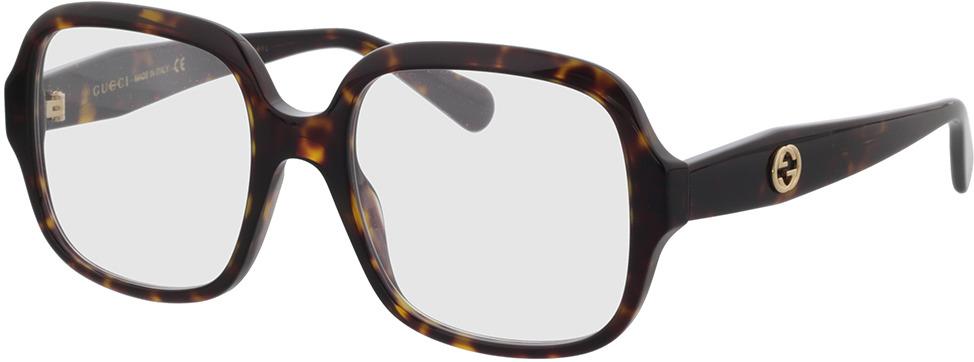 Picture of glasses model Gucci GG0799O-002 53-19 in angle 330