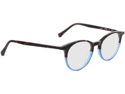 Brille Indianapolis-braun-meliert/blau
