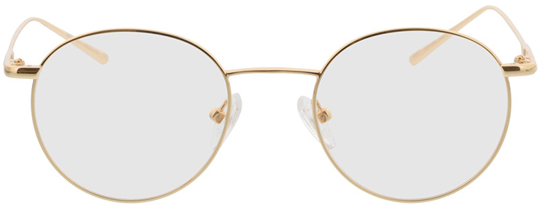 Picture of glasses model Forks gold in angle 0