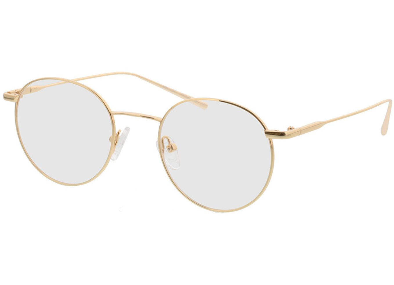 4817-singlevision-0000 Forks-gold Gleitsichtbrille, Vollrand, Rund Brille24 Collection